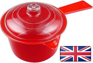 Saucepan 600ml Microwave Saucepan with Lid for Kitchen Sauce Pan BPA Free