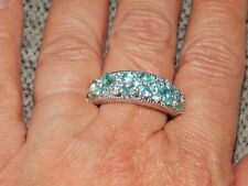 PARAIBE APATITE RING - SIZE S-2.150 CARATS-WITH PLATINUM