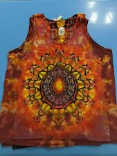 Custom Tye-Dye Mandala Tank Tops Men's Small