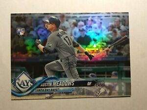 2018 Topps Update Austin Meadows Rainbow Foil SP Rookie #US34 RC Rookie Rays