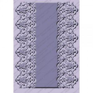 NEW Cricut Cuttlebug Embossing Folder Scrapbook Card Art Scalloped Edge 4.75x6.5