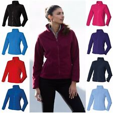 Womens Ladies Full Zip Micro Fleece Fashion Fit Jacket S-2XL 9 Colours Free P&P