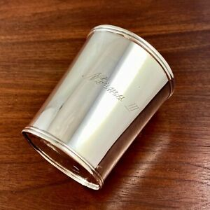 R & A CAMPBELL COIN SILVER BEAKER / MINT JULEP CUP BALTIMORE 1835-54