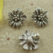 free ship 112 pieces tibetan silver flower charms 15x14mm L-4678