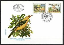 Yugoslavia - 1993 Protection of nature / Birds - Mi. 2620-21 on clean FDC