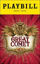 Natasha, Pierre, & the Great Comet of 1812 Playbill Broadway Musical Josh Groban