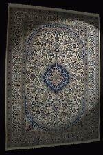 Nain mit Seide  Beige Orientteppich Teppich 345x246cm rug tappeto tapis alfombra