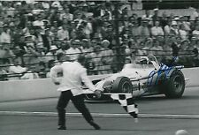 A. J. Foyt Hand Signed Indy 500 12x8 Photo.