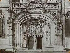 Main Portal,St. Nicholas de Brou Church, France,Magic Lantern Glass Slide