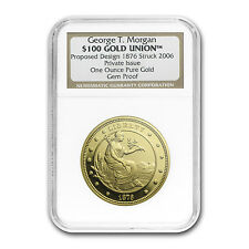 1 oz Gold Round - $100 Gold Union George T. Morgan (NGC PF-UCAM) - SKU #58733