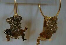 Wichita State Shockers 3D Gold Tone Hoop Earrings Free Ship