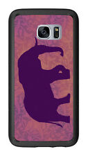 Elephant Sihlouette Purple For Samsung Galaxy S7 G930 Case Cover by Atomic Marke