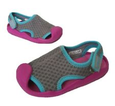 Crocs Toddler Girl Soft Sandals size 8 Beach Shoes Pink Gray