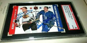 1996 Parkhurst '66-67 Bobby Hull/Frank Mahovlich Dual Autographed Chicago/Leafs!