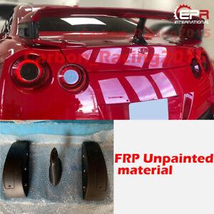 For Nissan R35 GTR FRP Unpainted Rear Trunk Spoiler Raise Lifter Block 3pcs Trim