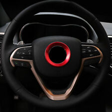 Steering Wheel Center Mark Cover Trim Red ABS For Jeep Grand Cherokee 2014-2018
