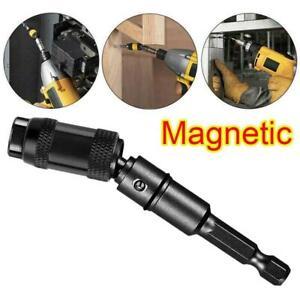 Black Tip Pivoting Steel Drill Swivel Bit Impact Magnetic Bit Screw Holder-New