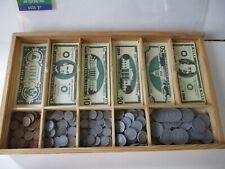 Waldorf Montessori Wooden Melissa & Doug Money Tray Educational Math Toy