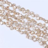 Wholesale AA Natural 8-9mm Champagne Keshi Pearl Beads 1 Strand Loose 15''