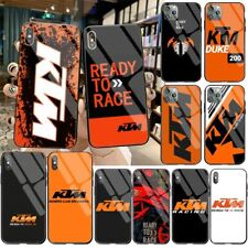 KTM motorcycle logo Rider Tempered Glass For iPhone case 11 Pro XR XS MAX Bicker