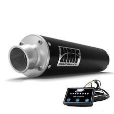 HMF Performance Slip On Exhaust Pipe Black + EFI Optimizer Controller Raptor 700