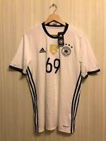 Deutschland #69 2016/2017 Home Size L Germany Adidas shirt jersey trikot soccer