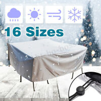 16 Size Outdoor Patio Garden Furniture Rain Snow UV Cover Table Chair Waterproof
