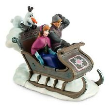 New Disney Store Frozen Wind Up Sleigh Kristoff Anna Olaf Wind Up Toy Figure