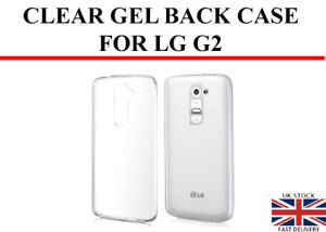 Transparent Crystal Clear Back Case Silicone Gel Case For LG G2 TPU Cover Skin