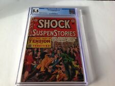 SHOCK SUSPENSTORIES 2 CGC 5.5 PRE CODE HORROR EC COMICS COMMUNISM WALLY WOOD