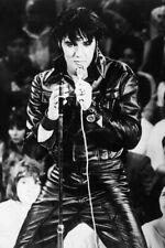 "ELVIS PRESLEY Vintage Black leather singing A2 CANVAS PRINT Poster 16""X 24"""
