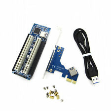 PCI-E Express X1 to Dual PCI Riser Extend Adapter Card With 60cm USB 3.0 Cable