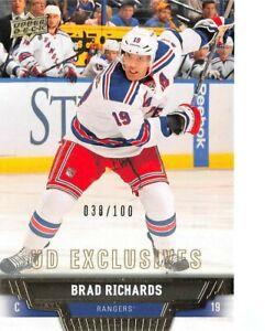 2013-14 Upper Deck Exclusives #423 Brad Richards /100