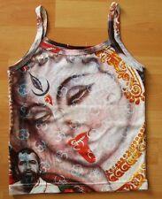 KALI MA Hindu Goa DJ Hippie Party Tattoo Art Designer TOP SHIRT XS/S Prachtstück