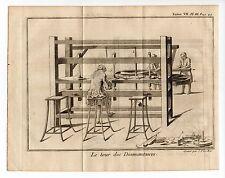 bijoux Artisan Métier le tour des diamantaires  gravure année 1751/GLSN12