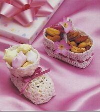 Baby Bootie & Basket Nut Cups/DECOR/Crochet Pattern INSTRUCTIONS ONLY