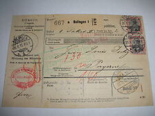 ANTIQUE 1915 SOLINGEN GERMANY CARD WITH STAMPS   WWI