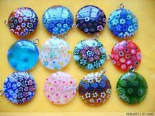 12pcsMulticolor Beautiful Bead round Millefiori Flower Lampwork Glass Beads 20mm