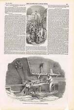 1850 The Sash Bar Cutting Machine For Great Exhibition Paying Workmen