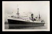 UK0820 - Clan Line Cargo Ship - Clan Macrae under tow - built 1942 - photograph