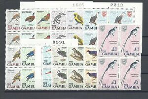 GAMBIA 1966 SG 233/45 MNH Blocks of 4 Cat £40