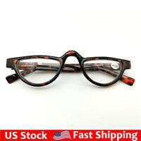Half Moon Reading Glasses Tortoise Readers Spring Hinges Vintage  1.0~3.5 IFA353