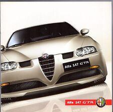 ALFA ROMEO 147 GTA 3.2 V6 2002-05 UK Opuscolo Vendite sul mercato