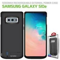 Samsung Galaxy S10e 5000mAh Battery Charging Case Rechargeable External Power.