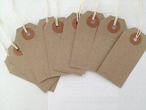 Strung Manilla Buff Luggage Labels Bag Tie Craft Wedding Brown Card Gifts String