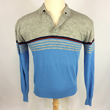 Vintage Surf Stripe Blank Knit Sweater Polo Atomic Mod Retro 50s 60s Shirt Ward