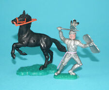 TIMPO TOYS SWOPPETS SILVER KNIGHT & HORSE 1960s ENGLAND