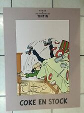 Grand poster Tintin Coke en Stock