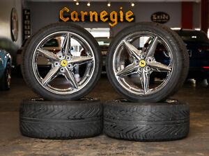 BBS Ferrari 360 18'' INCH STAGGERED CHROME WHEELS  OEM 18X7.5 18X10