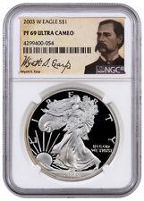 2003-W 1 Oz Proof American Silver Eagle NGC PF69 UC (Wyatt Earp Label) SKU37906